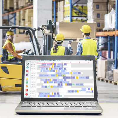 Logistics Solutions: Digitalised and automated processes for warehouse optimisation.